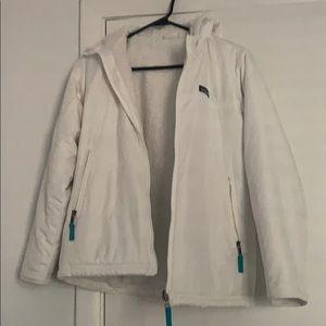 Patagonia white puffer reversible jacket